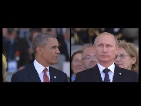 Ukraine War - Barack Obama Vs. Vladimir Putin at the Normandy summit