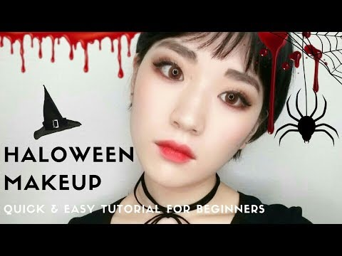 quick  easy halloween makeup tutorial for the beginners
