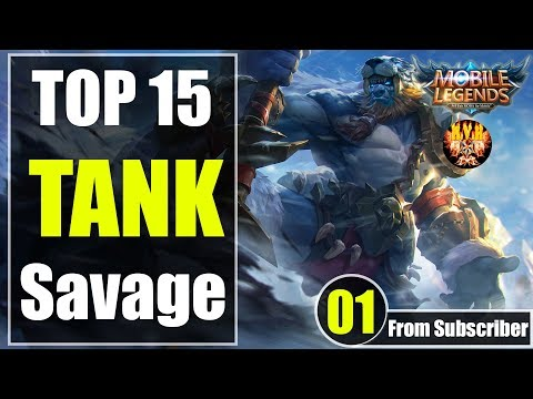 Mobile Legends TOP 15 TANK And Support SAVAGE Moments Episode 01