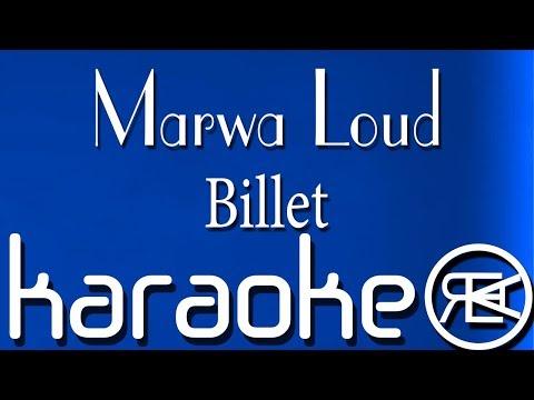 Marwa Loud - Billet | Karaoké Lyrics (je n'veux pas briller)