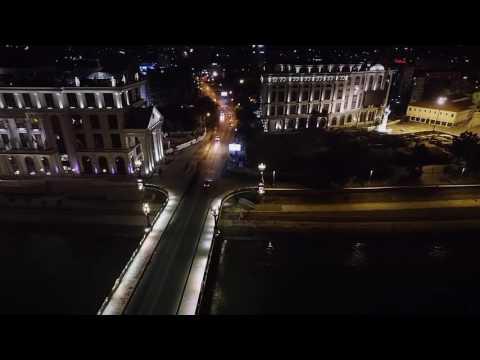 Skopje  Aerial Night Video