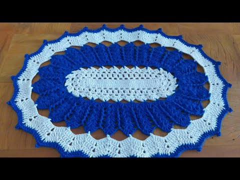 Tapete oval Blue