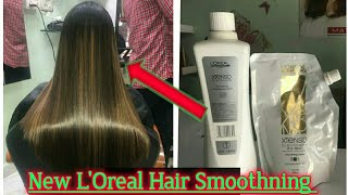 How to New Xtenso smoothing in Hindi 2019/straightning/Rebonding/L'Oreal/Step by step/transformation