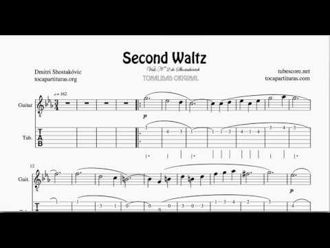 waltz n 2 by shostakovich tablature sheet music for guitar tabs fingering youtube. Black Bedroom Furniture Sets. Home Design Ideas