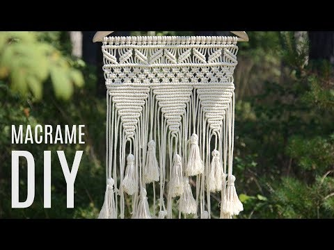 DIY Macramé Wall Hanging Easy Tutorial by Macrame School | Home Decor Ideas thumbnail