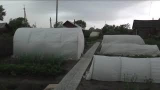 Очередной ураган вечером 23 июня, пригород Барнаула, крупный град прошел мимо
