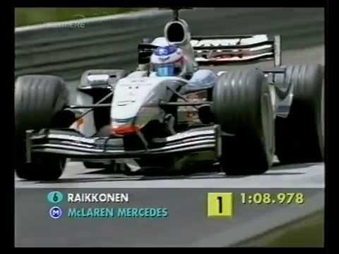 F1 Austrian GP A1-Ring 2003 - Friday Qualifying - Kimi Raikkonen Lap