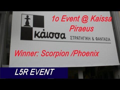 1o L5R event at KAISSA Piraeus GREECE