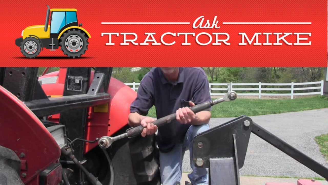 Adjusting The Tractor Top Link To Pull A Brush Hog Youtube