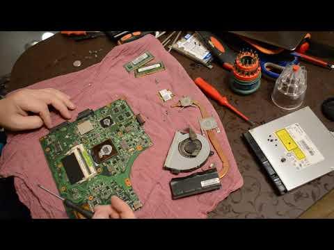 ноутбук Asus K53sd не включается  разборка, склейка, пайка, сборка