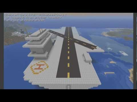 minecraft aircraft carrier tutorial