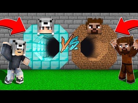ZENGİN GİZLİ MAĞARASI VS FAKİR GİZLİ MAĞARASI! 😱 - Minecraft thumbnail