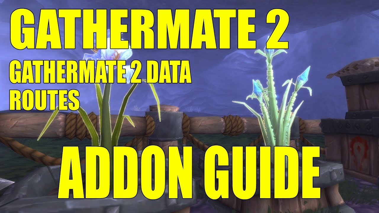 World of Warcraft Mists of Pandaria Addon Spotlight Routes Gathermate 2  Gathermate 2 Data