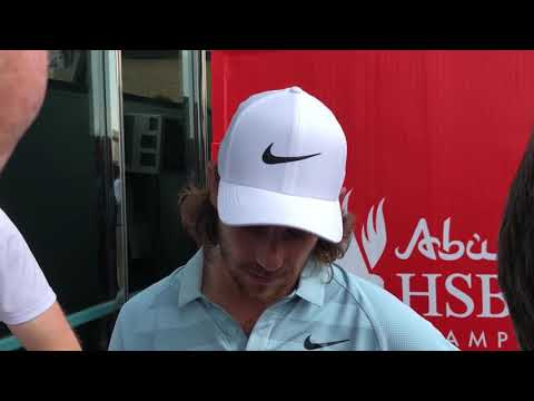 Tommy Fleetwood joking about getting longer on the Golf course