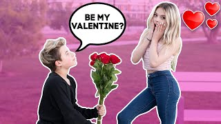 She Said Yes! **surprise Valentine Proposal**💕🌹  Gavin Magnus Ft. Ben Azelart