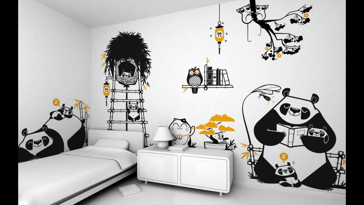 E glue wall stickers for baby nursery childrens room youtube amipublicfo Gallery