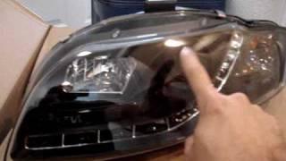 Audi A4 B7 R8 style L.E.D. Projector Headlights from Ebay