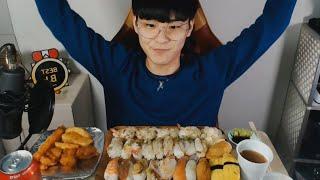 😳2021년은 초밥으로 시작 ! #MukBang