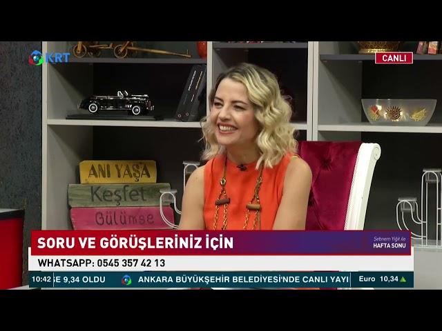 Şebnem Yiğit İle Hafta Sonu - Yasemin Conker - 10.07.2021 - KRT TV