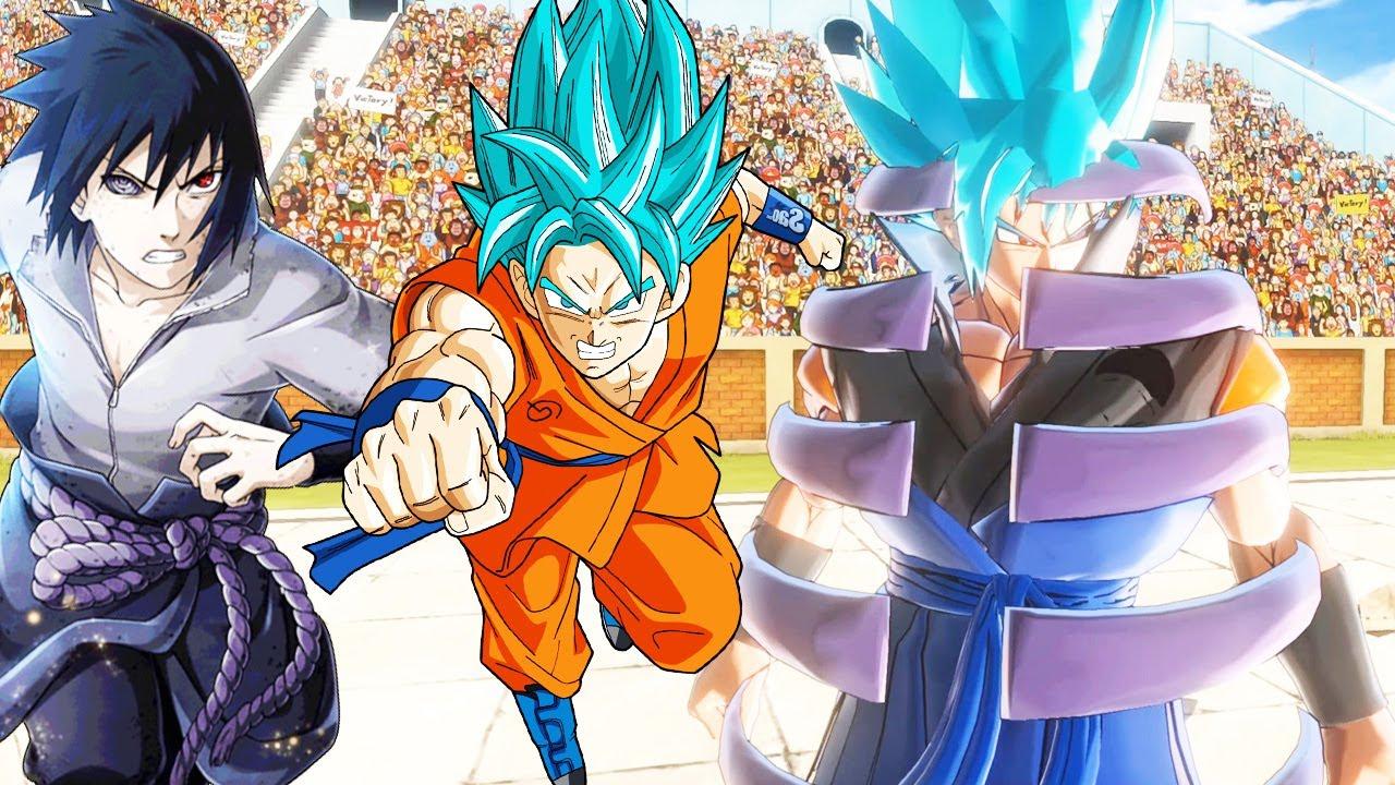 Goku Hợp Thể Với Sasuke Trong Naruto Trở Thành Gosuke Dùng Susanoo Làm Giáp - Dragon Ball XV2 Tập 32