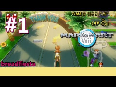 Let's Play Mario Kart Wii - Time Trials (Unlocking Baby Luigi)