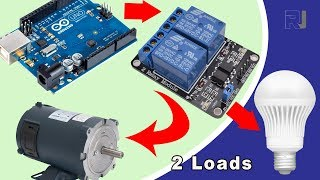 How to use 2 channel relay to control AC and DC loads in Arduino