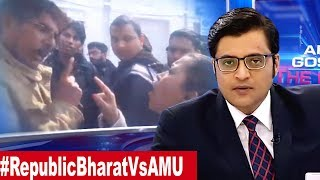 Republic TV Reporters Physically Attacked On AMU Campus The Debate With Arnab Goswami