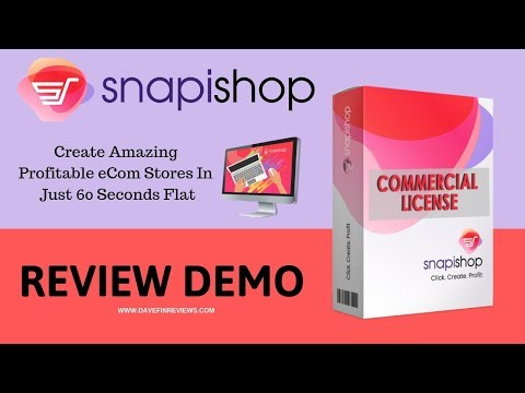 SnapiShop Review Demo   60 Second Ecommerce Stores. http://bit.ly/2Zmx1hu