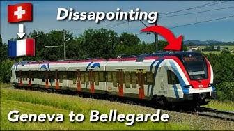 SBB CFF FFS (2ND CLASS) | FLIRT | Geneve Cornavin🇨🇭 - Bellegarde 🇫🇷