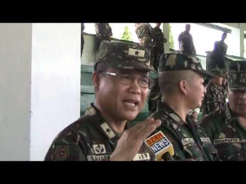 DISTRIBUTION NG BAGONG ARMAS SA FORT MAGSAYSAY NI AFP CHIEF GEN GREGORIO PIO CATAPANG