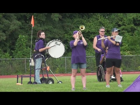 Martins Ferry High School Band has every member take the field, regardless of challenges