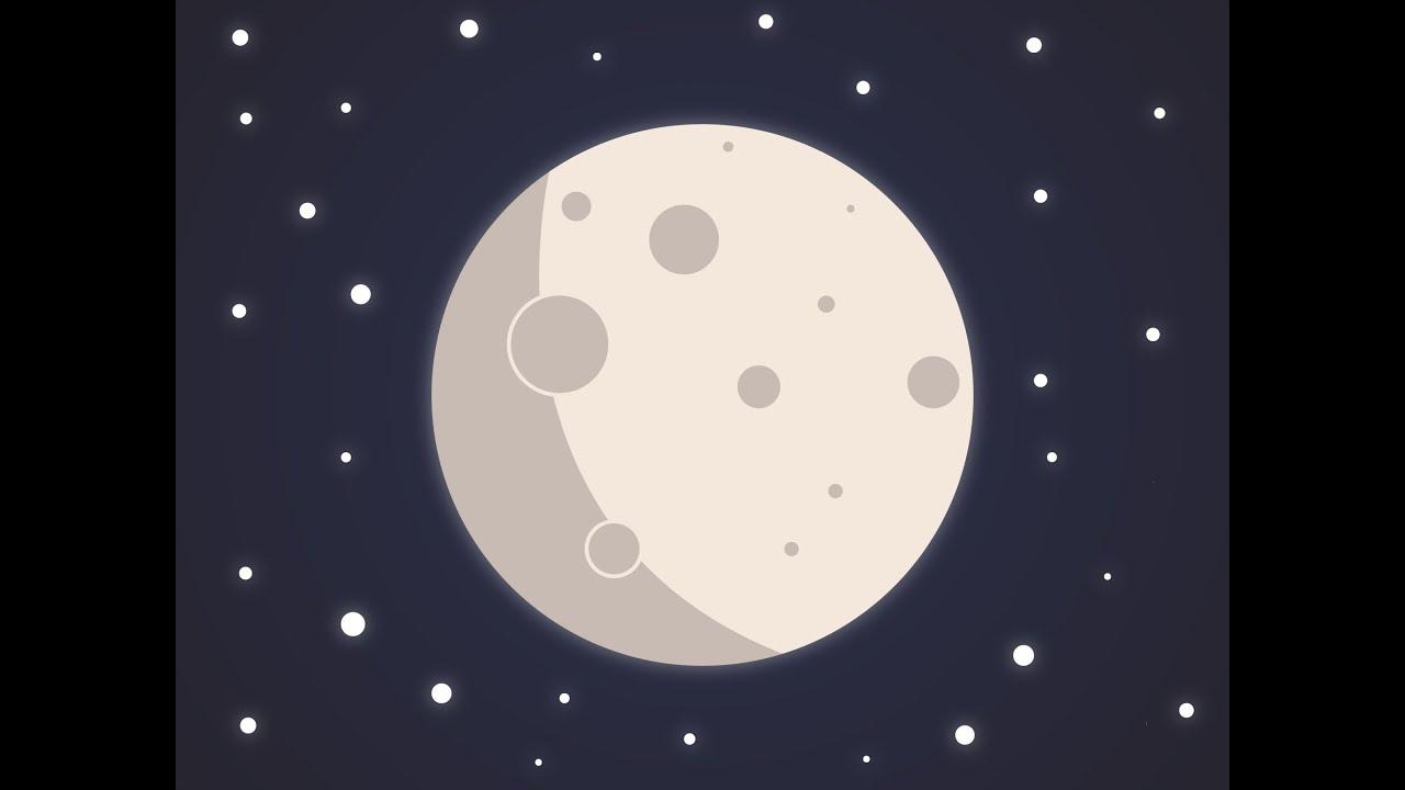 Halloween Moon minimal vector design | Adobe Illustrator Speedart ...