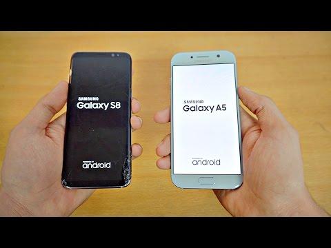 Samsung Galaxy S8 vs Galaxy A5 (2017) - Speed Test! (4K)