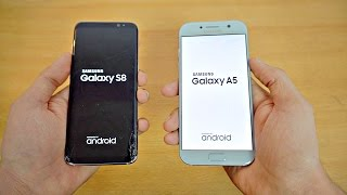 Samsung Galaxy S8 vs Galaxy A5 (2017) - Speed Test! (4K)