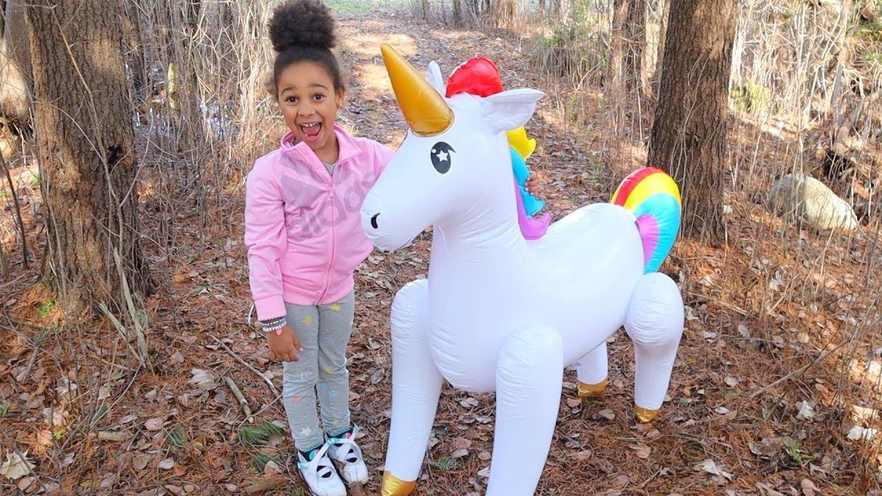 Giant Magical Unicorn Kids Pretend Play   FamousTubeKIDS