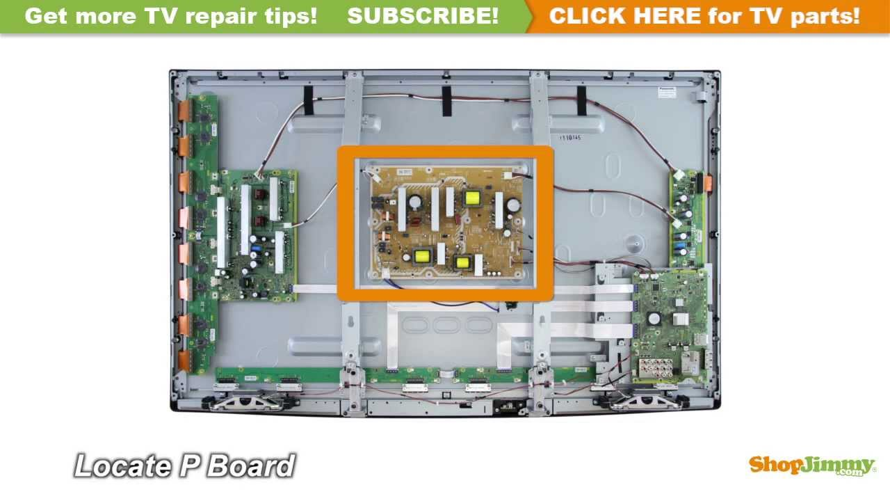 no power tv repair panasonic n0ab5jk00001 plasma tv repair tips: p boards /  power supply unit boards