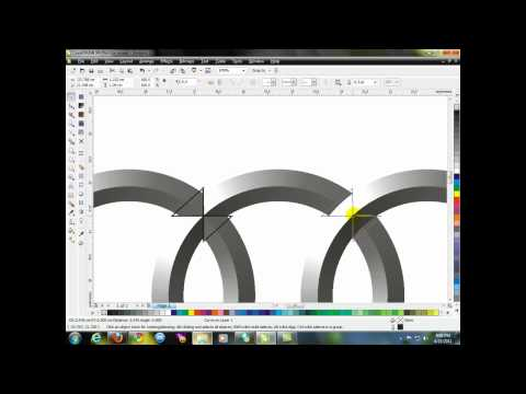 Drawing Audi logo - CorelDraw