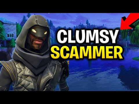 Clumsy Evil Scammer Scams Himself! (Scammer Gets Scammed) Fortnite Save The World