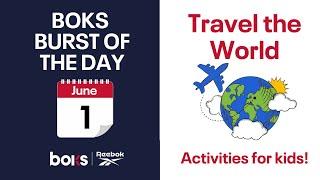 June 1st BOKS Burst: Travel The World Exercise