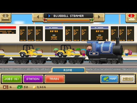 Pocket Trains (by NimbleBit LLC) - casual game for android and iOS - gameplay.