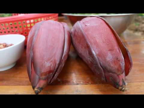 How To Cook Snail With Banana Flower - Beautiful Girl Cooking - Country Food Factory