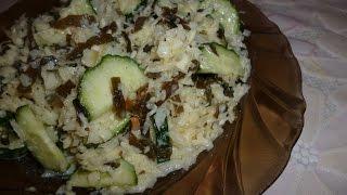 Диетический салатик с морской капустой. Просто, быстро, вкусно