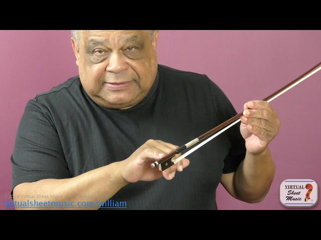 Beginning Bowing Steps - How to Hold the Bow - Violin Lesson