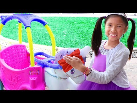 Wendy Pretend Play Car Wash for Unicorn Princess Carriage Car Toy