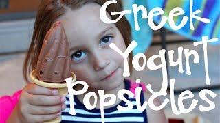 Chocolate Greek Yogurt Popsicles