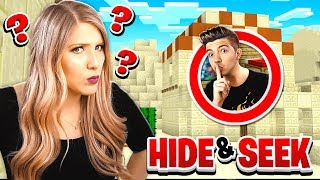 TROLLING MY WIFE IN GIANT MINECRAFT DESERT HIDE AND SEEK! (MCPE)