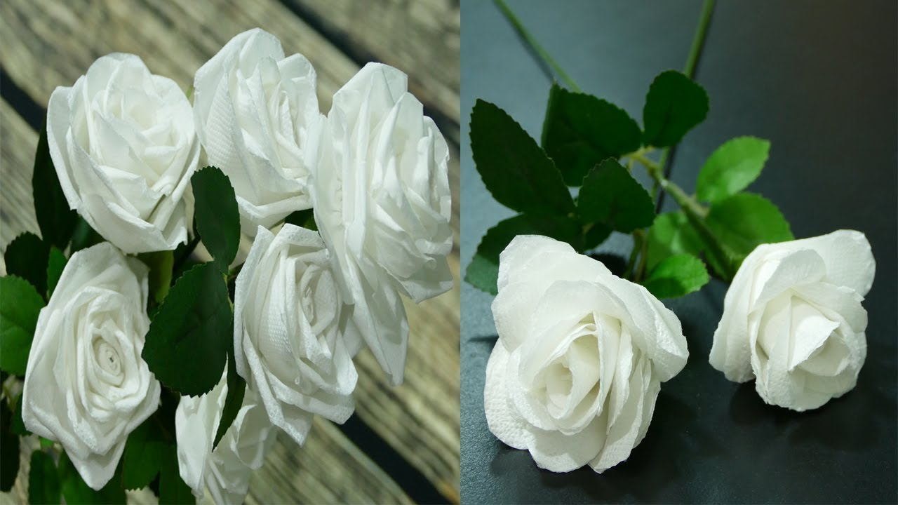 3 Ways To Make Roses With Toilet Paper Flowers Diy Youtube