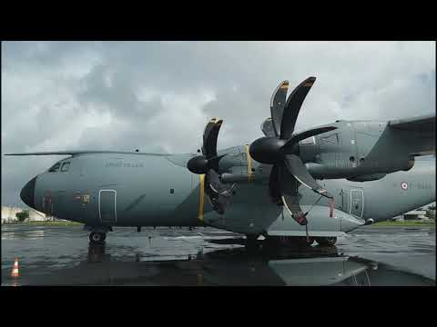 AIRBUS A400M en Guadeloupe  pour Ouragan IRMA  2017