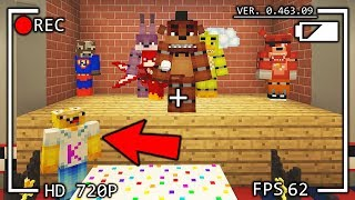 ⚡️ ESCAPA DE LOS ANIMATRONICOS DE FIVE NIGHTS AT FREDDY'S (FNAF) CON ARMAS EN MINECRAFT TROLL