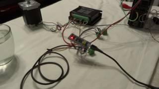 PLC step motor regulation